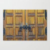 doors Canvas Prints featuring Doors by Defiant Hawk Photography