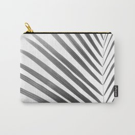 Palm Leaf | Black and White Carry-All Pouch
