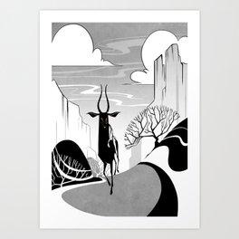 Valleys Art Print
