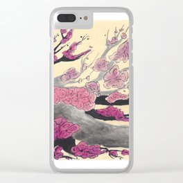 Pink Cherry Blossoms (2 of 3) Clear iPhone Case