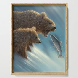Brown Bears - Fishing Lesson Serving Tray