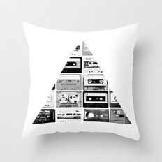 ▲ Triangle Cassettes △ Throw Pillow