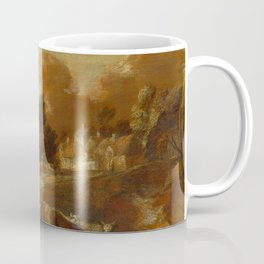 "Thomas Gainsborough "" An Imaginary Wooded Village with Drovers and Cattle"" Coffee Mug"