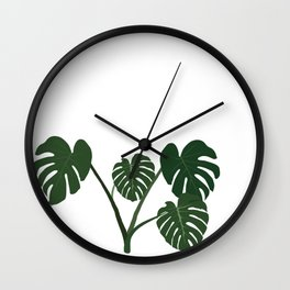 monstera delicosa Wall Clock