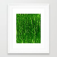 vegetable Framed Art Prints featuring green vegetable by clemm