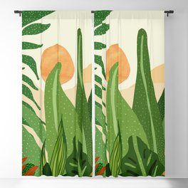 Summer In the Jungle / Contemporary Sunset Scene Blackout Curtain
