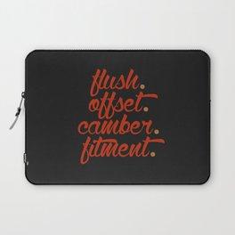 flush offset camber fitment v1 HQvector Laptop Sleeve