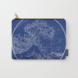 Traditional Japan great wave line art Carry-All Pouch