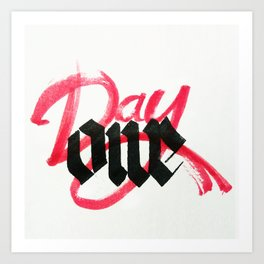 One day / day one Art Print
