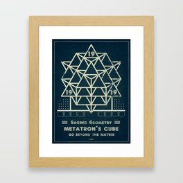 Sacred Geometry for your daily life - METATRON BLUEPRINT Framed Art Print