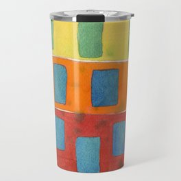 Placed in a Red Orange Yellow Field Travel Mug