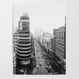 Gran Via in Madrid Poster
