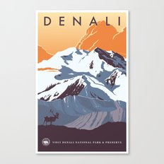 Denali National Park Travel Poster Canvas Print