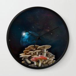 Lunar Mushrooms-Extraterrestrial Life Wall Clock
