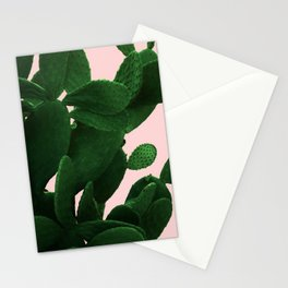 Cactus On Pink Stationery Cards