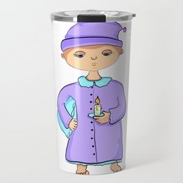 Gnome with pillow and candle Travel Mug