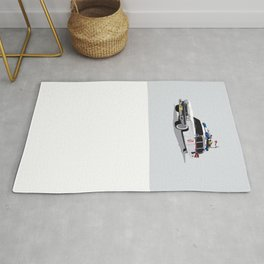 Ghostbusters Illustrated Ecto 1 Rug