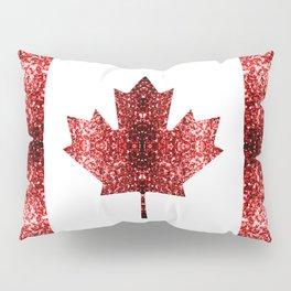 Canada flag red sparkles Pillow Sham