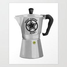 Most Coffee Wins Art Print