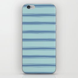 Cobalt blue french striped iPhone Skin