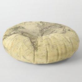 World Map 1814 Floor Pillow