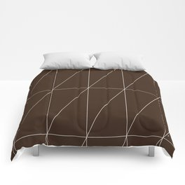Brown Triangles by Friztin Comforters