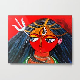 Durga, The Warrior Goddess 2: Commissioned art Metal Print