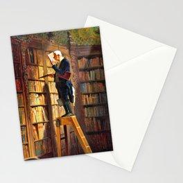 12,000pixel-500dpi - The Bookworm - Carl Spitzweg Stationery Cards