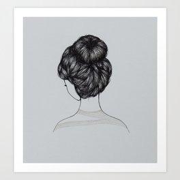 Bun Girl Art Print