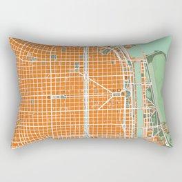 Buenos Aires city map orange Rectangular Pillow