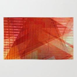 Orange abstract  Rug