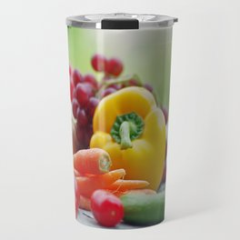 Fruits and Vegetables Variety in the kitchen Travel Mug