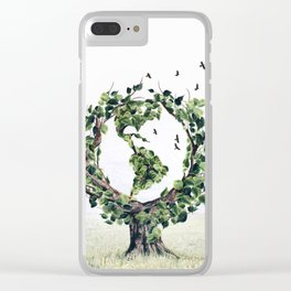 Save the Planet Clear iPhone Case