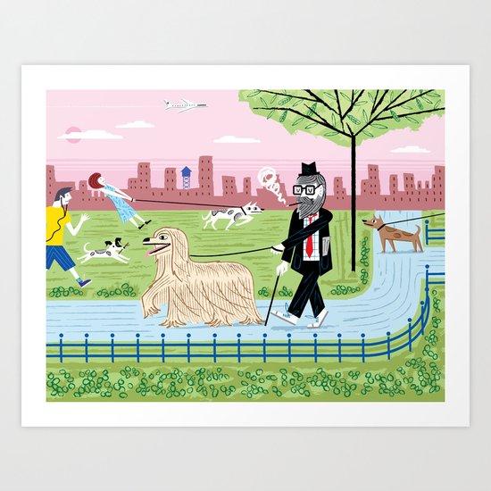 The Dog Walkers Art Print