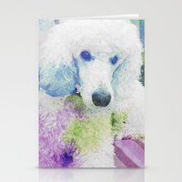 poodle Stationery Cards featuring poodle by Sarah Jane Connors