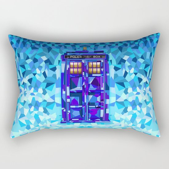 Phone booth Tardis doctor who cubic art iPhone 4 4s 5 5c 6, pillow case, mugs and tshirt Rectangular Pillow