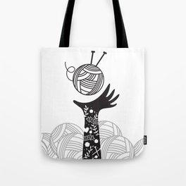 Yarn Love - Black Tote Bag