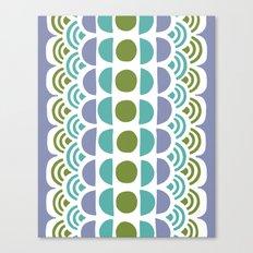 turquoise circles Canvas Print