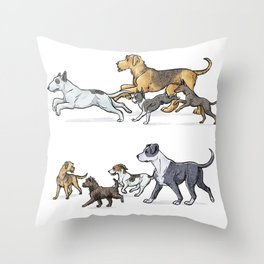 Trotting Terriers Throw Pillow