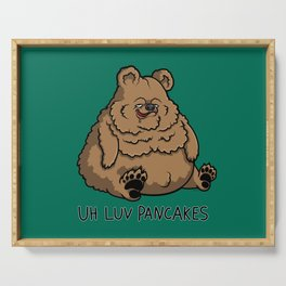 Pancake-Eating Bear Serving Tray