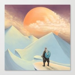 Thor going to Jotunheim Canvas Print