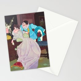 A lover's spat Stationery Cards