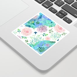 Watercolor Floral Pattern - WHEN AGATE MEET Sticker