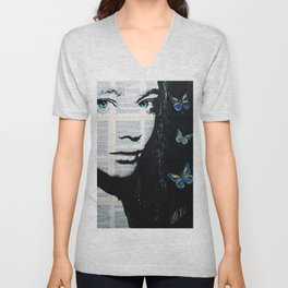Yekaterina with butterflies Unisex V-Neck