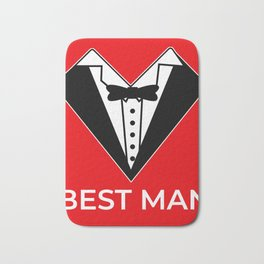 Best man bachelor party JGA wedding Bath Mat