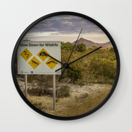 The Australian Roadtrip of Wildlife Road Signs Wall Clock