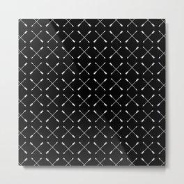White Arrows Pattern Metal Print