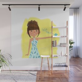 She doesn't care Wall Mural