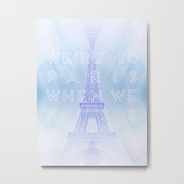 One Direction: So Paris Metal Print