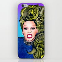 rupaul iPhone & iPod Skins featuring RUPAUL by Alli Vanes